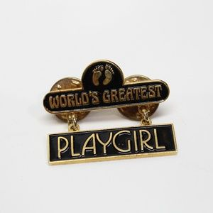 Vintage World's Greatest Playgirl Hanging Pin